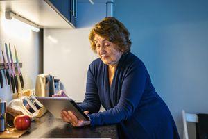 Senior woman using a tablet