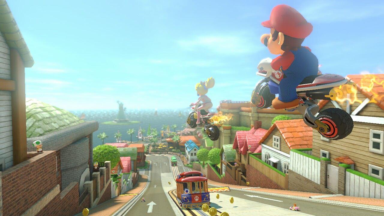 Mario Kart 8 ToadHarbor gameplay