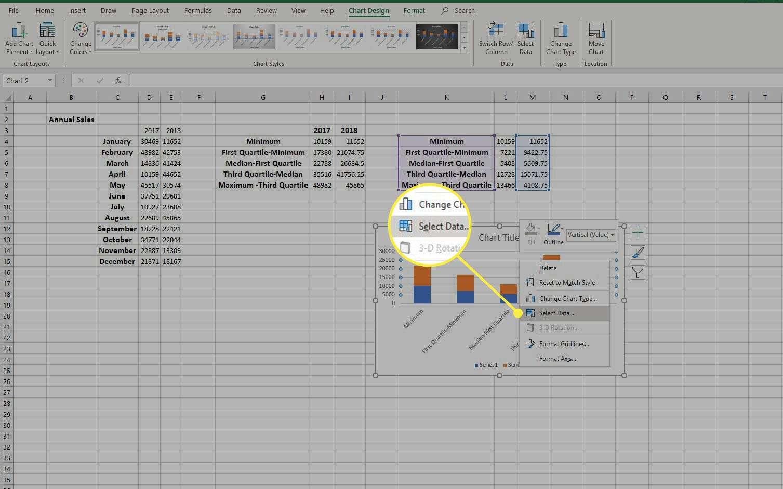 Select Data in right-click menu