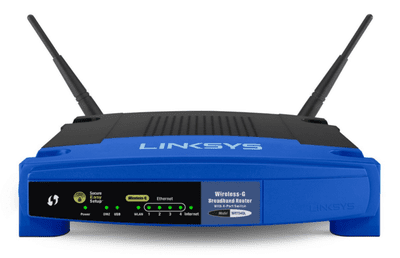 Picture of the Linksys WRT54GL router