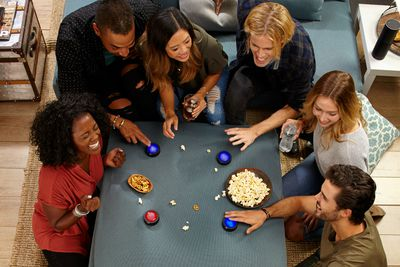 Amazon Echo Buttons used to play a party game with friends