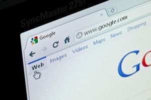 Google search website in Google Chrome browser