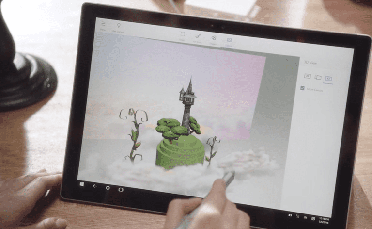 Paint 3D in Windows 10 Creators Update.