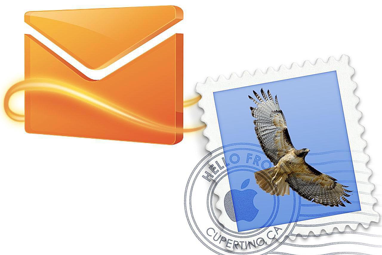 Windows Live Hotmail & Mac Mail logos