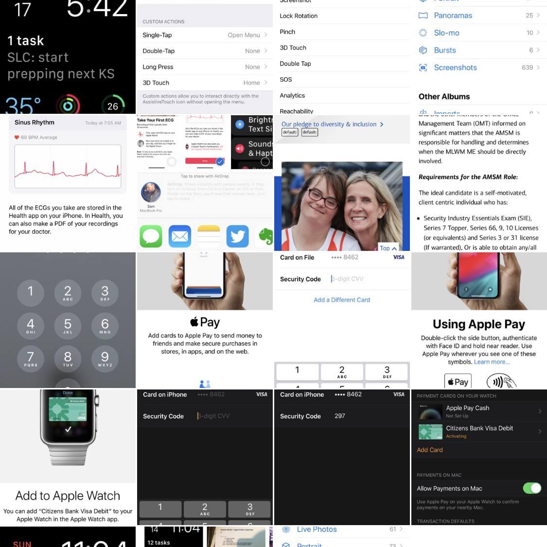 A screenshot of the Screenshots album in the Photos app
