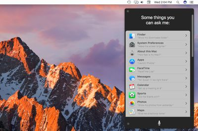 Siri commands specifically for the Mac