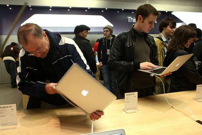 MacBook Air at Apple Store