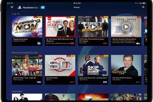 PlayStation Vue app on iPad