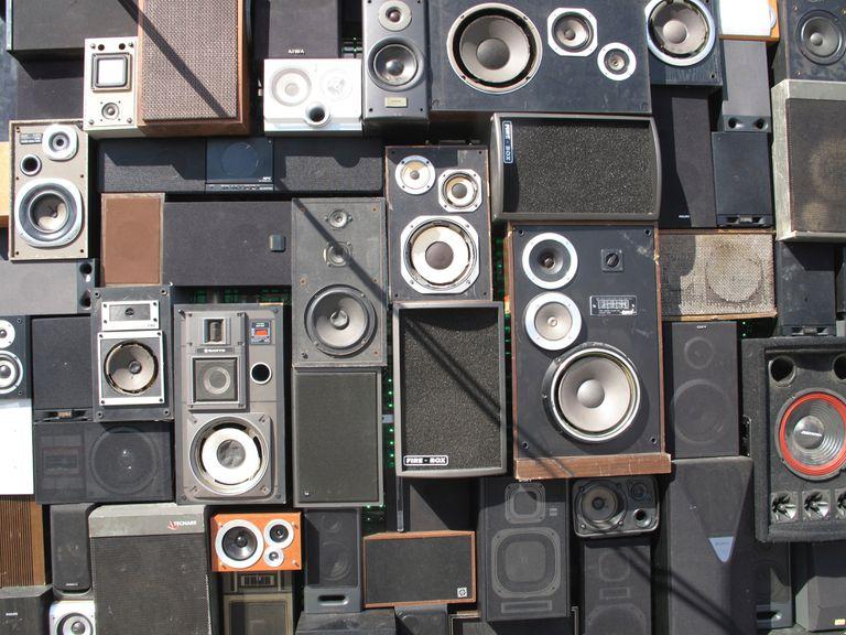 Full Frame Shot Of stereo Speakers