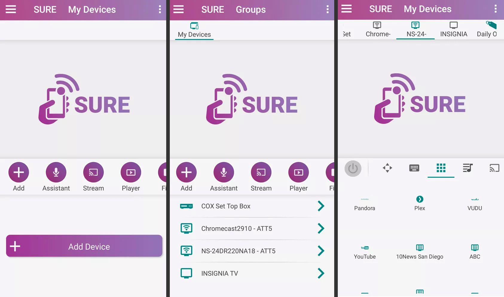 SURE Universal Smart TV Remote Control app
