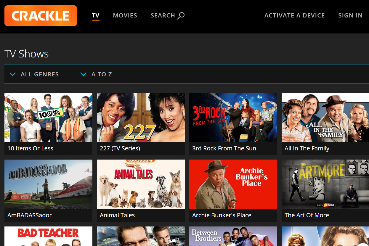 Crackle: Watch Free Movies and TV Online