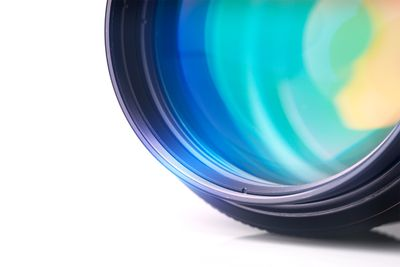 The front element of a prime camera lens
