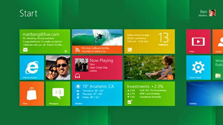 A screenshot of the Windows 8 Desktop