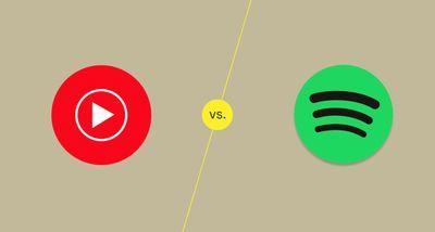 YouTube Music vs Spotify Illustration
