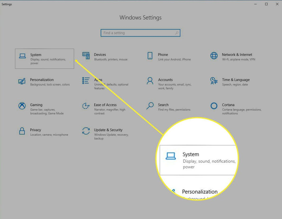 Windows Settings > System