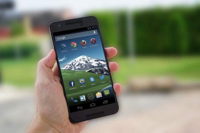 Google Android smartphone in a hand