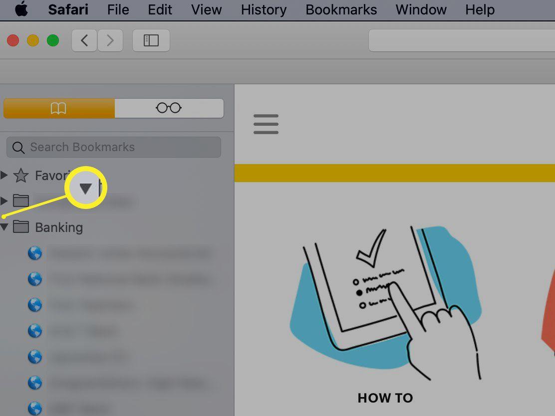 Add a subfolder to Safari's Bookmarks bar
