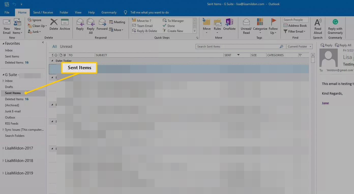 How to Recall a Message in Outlook