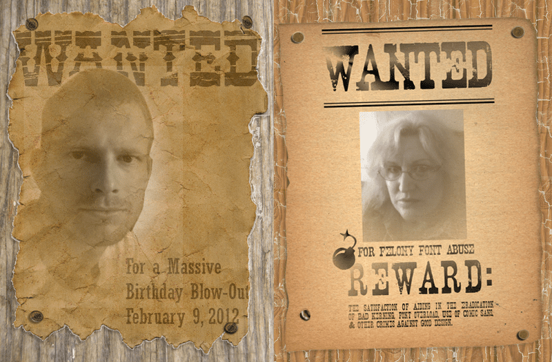 make a wanted poster with free fonts and tutorials