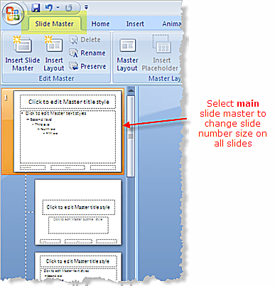 Access the PowerPoint slide master