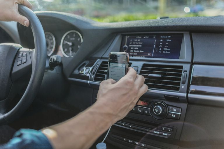 Cell phone hook up to car radio