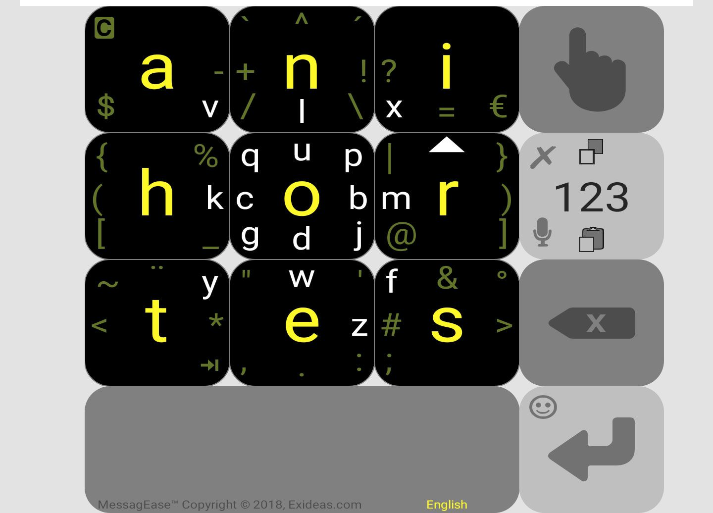 MessagEase Keyboard – great for one-handed