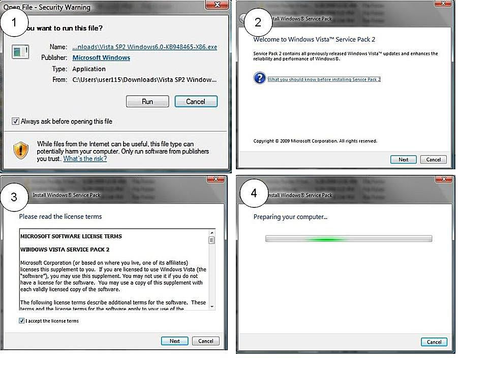 install windows 7 service pack 2 manually