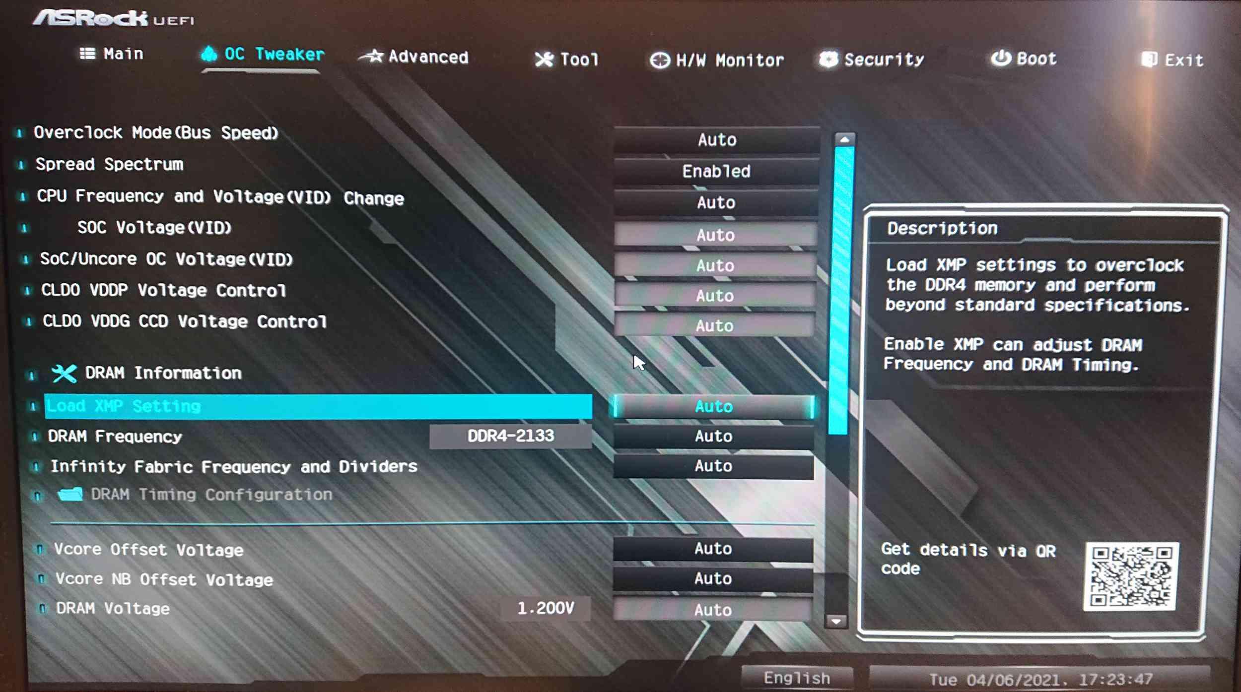 ASRock UEFI Bios OC Tweaker