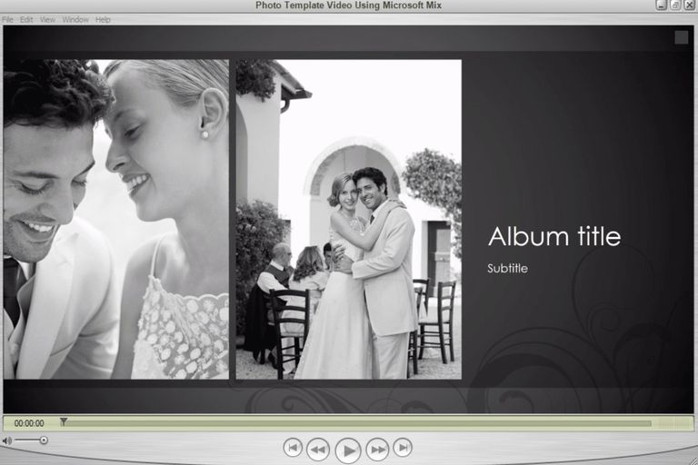 Photo Template Video Using Microsoft Mix for PowerPoint in Windows Media Player