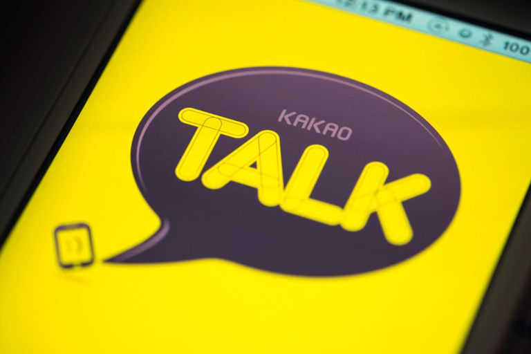Kakao Talk App on Apple iPhone 4s Screen