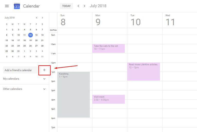 Create new Google Calendar.