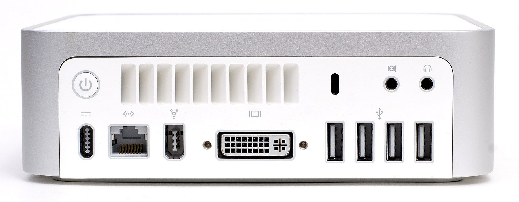 Rearview of M1 Mac Mini and all of its ports