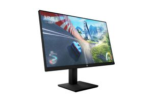 One of HP's new gaming monitor facing to the right