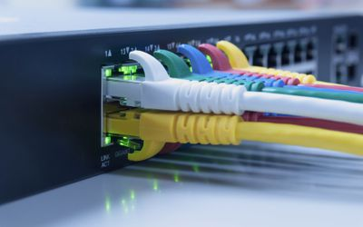 Router with RJ45 cables