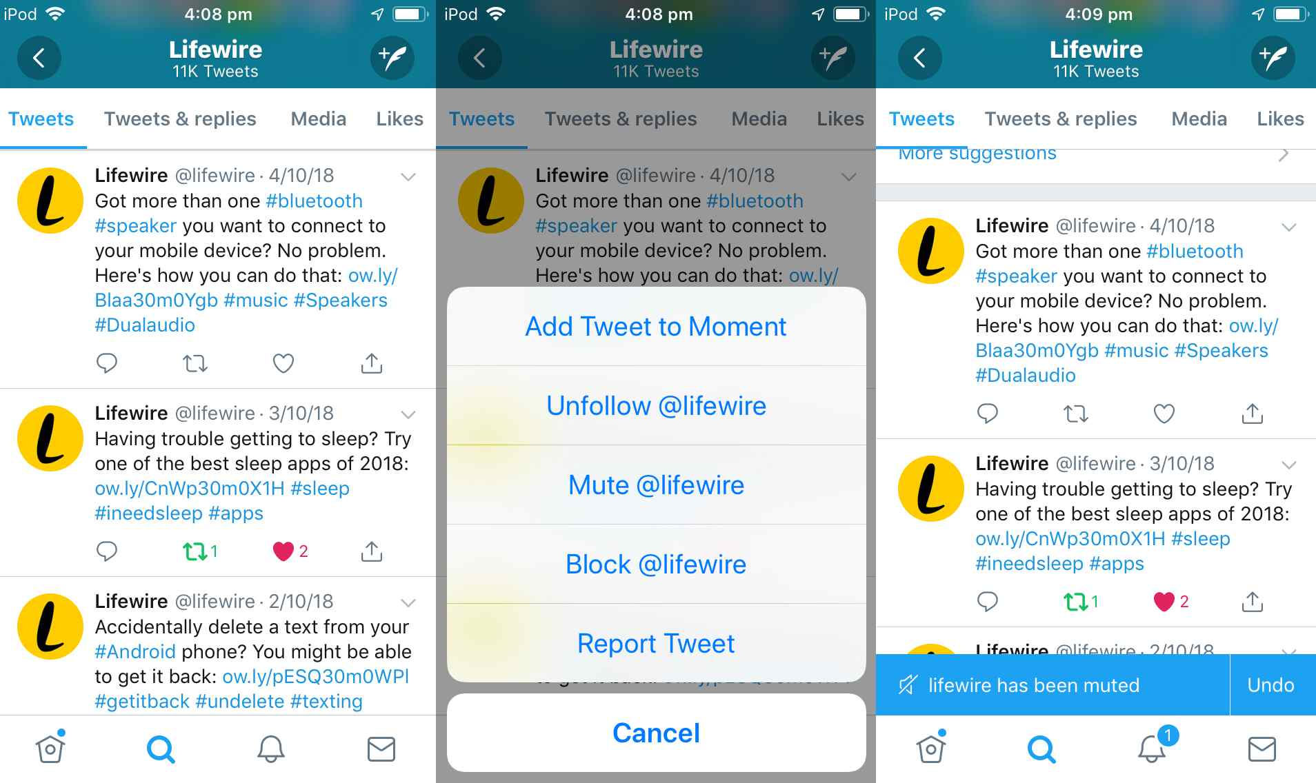 How to Mute Twitter Users and Create a Muted Words List