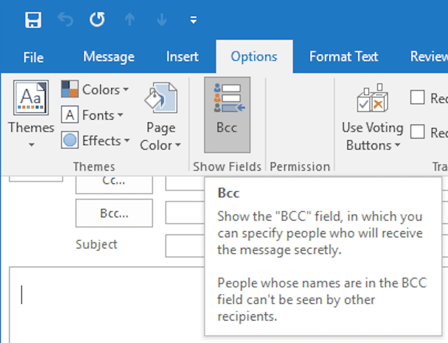 How To Add Bcc Recipients In Outlook