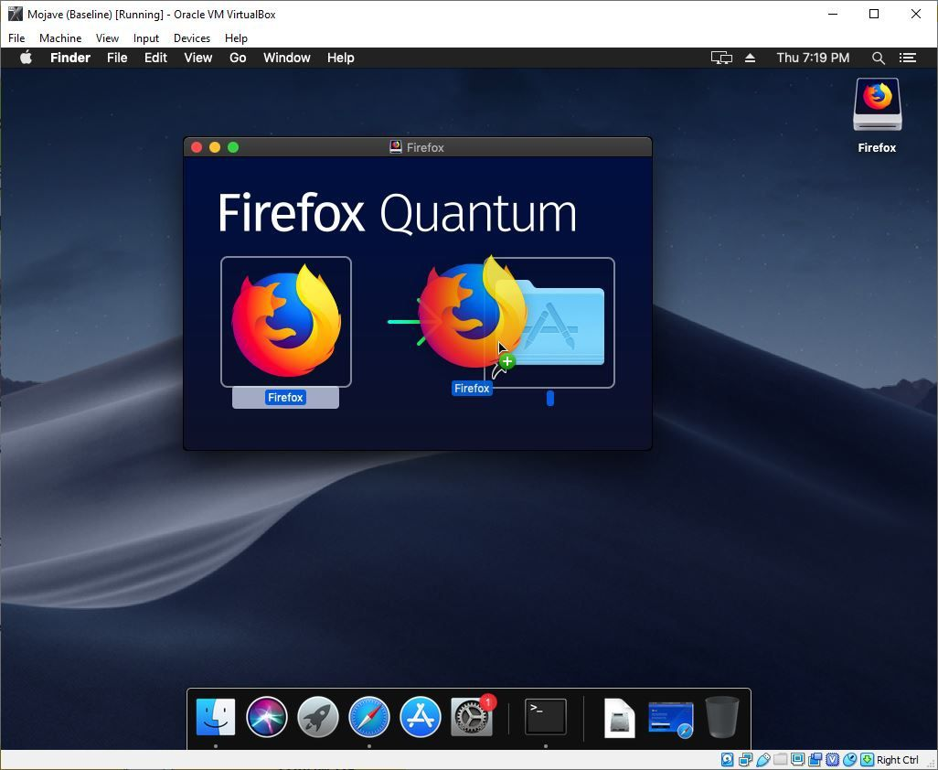 Drag and Drop Firefox into Your Applications Folder