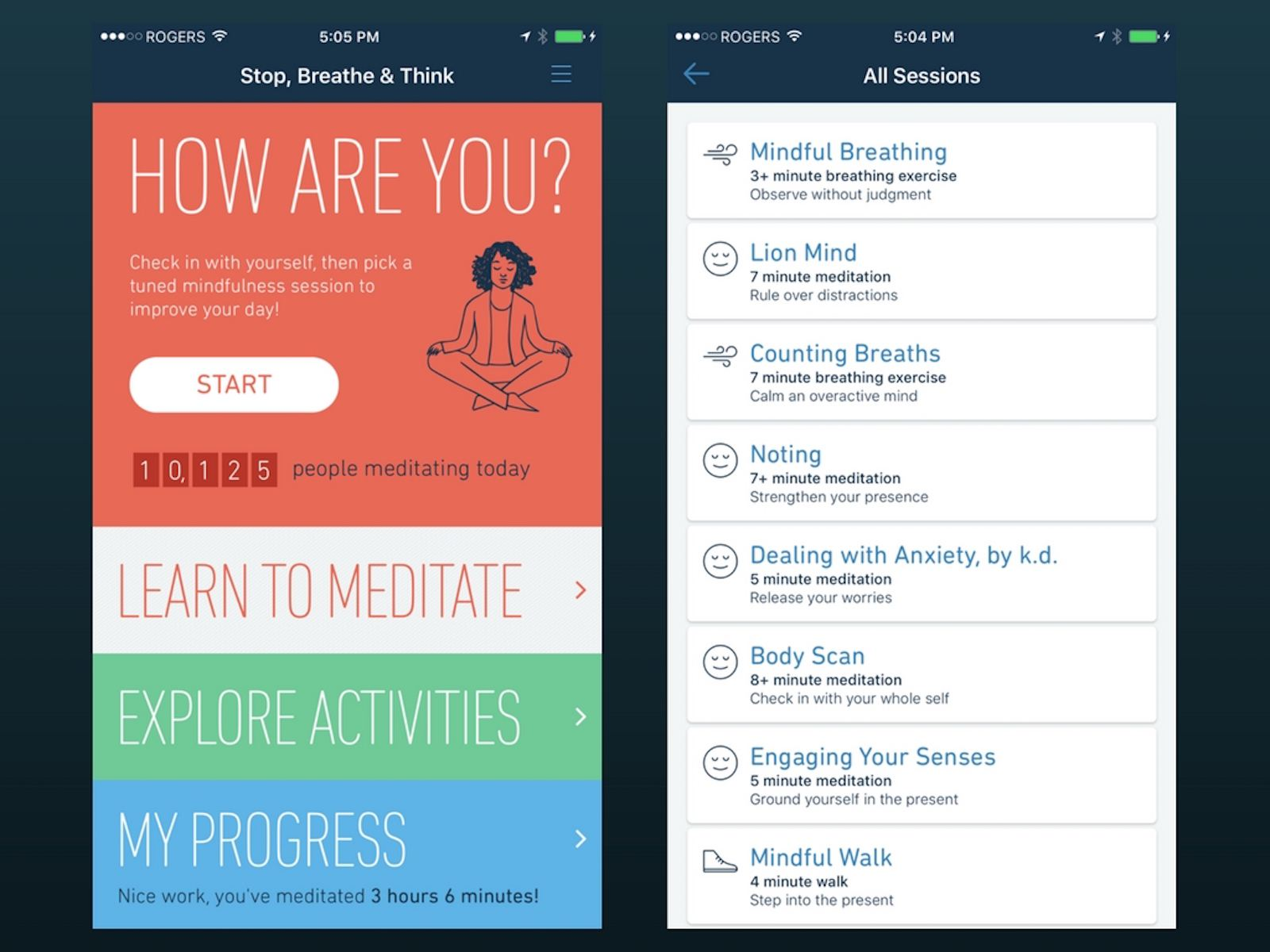 Stop, Breathe & Think for iOS
