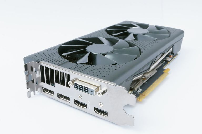 Powerful modern high end computer graphics card