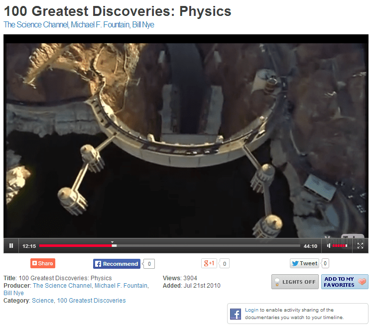 Screenshot of an episode of 100 Greatest Discoveries on Watch Documentary