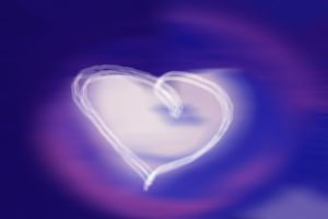 An image of a blurry heart on a computer screen.