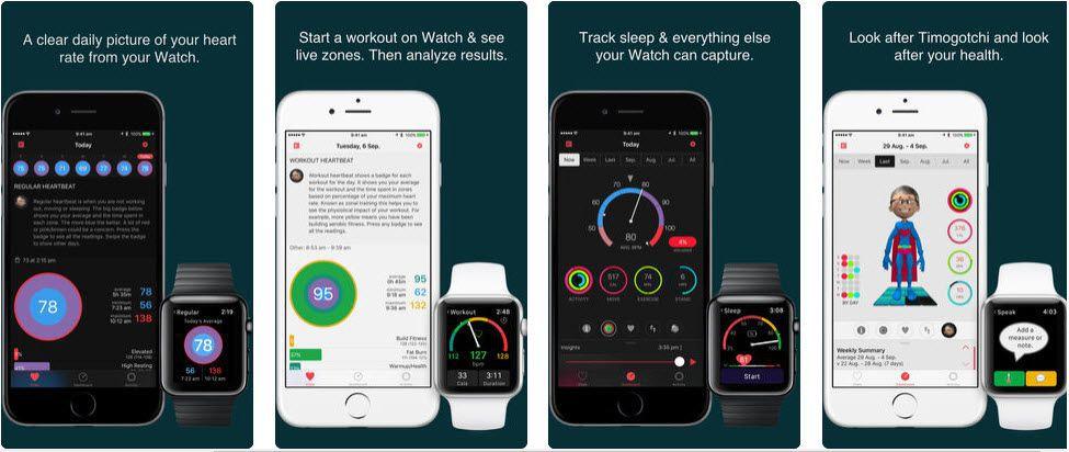 HeartWatch Screen Shot Apple Watch Sleep Tracking