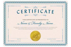 Classic diploma certificate