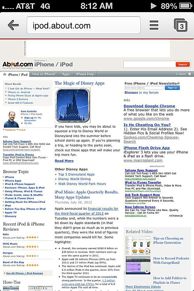 Google Chrome for iPhone