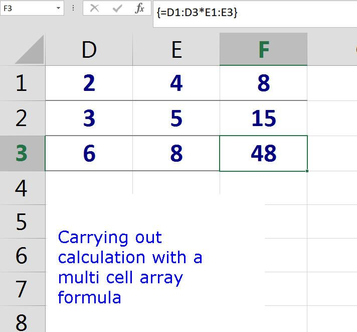 Perform Multiple Calculations With Excel Array Formulas. Carrying Out Calculation With A Multi Cell Array Formula In Excel. Worksheet. Worksheet Calculate Specific Cell At Clickcart.co