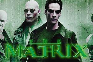 A screenshot from the Matrix movies.