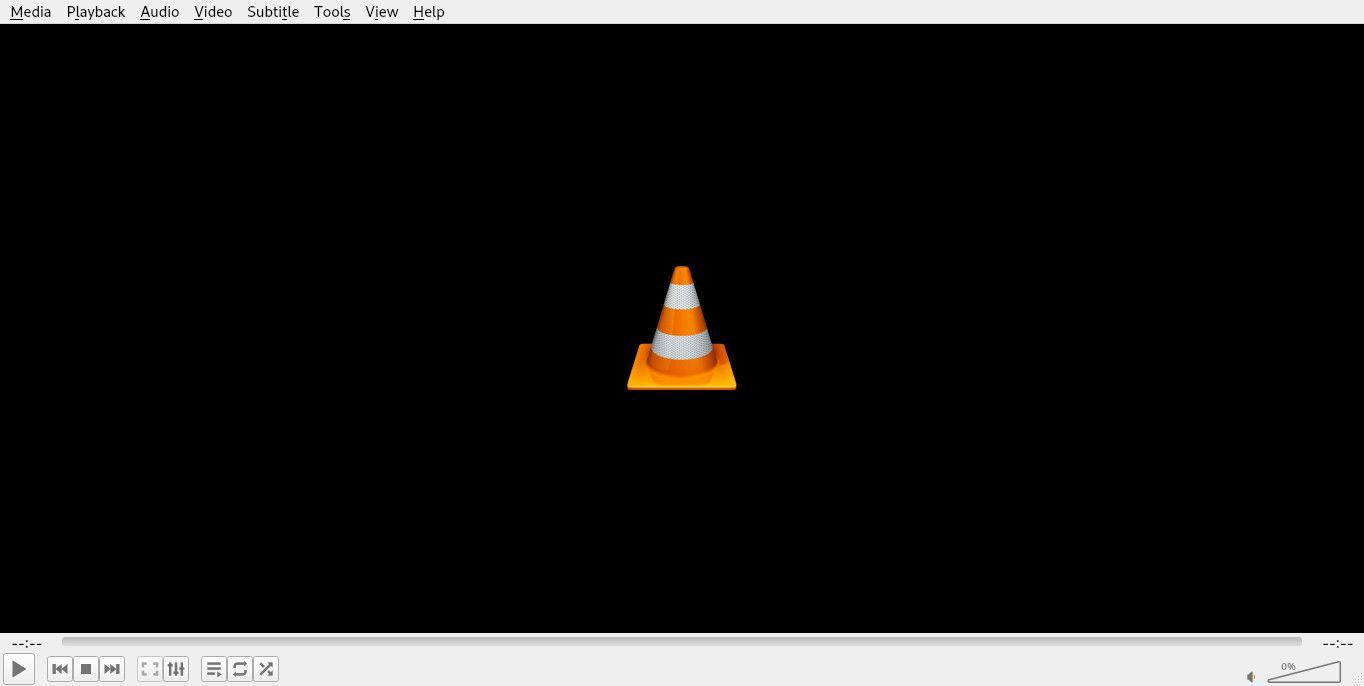 VLC main screen