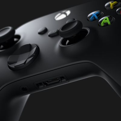 Close up of the Xbox Series X controller.