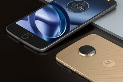 Moto Z Droid Edition front/back