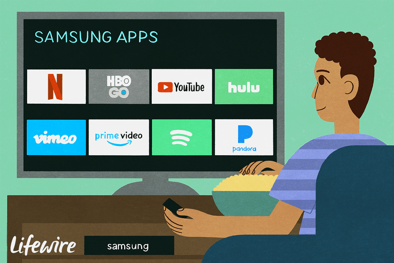 Samsung Apps on an HDTV